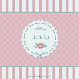 Tarjeta linda bebé