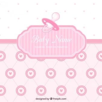 Tarjeta linda de la bienvenida del bebé para chica
