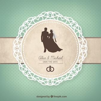 Tarjeta linda de la boda