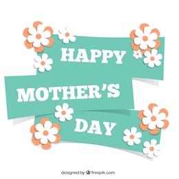 Tarjeta para el día de las madres con flores