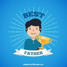 Tarjeta para el mejor padre