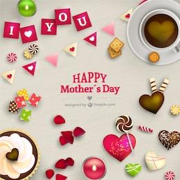 Tarjeta preciosa del día de la madre