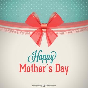 Tarjeta retro para el día de la madre