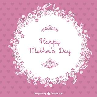 Tarjeta rosa del día de la madre