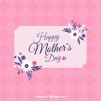 Tarjeta rosa para el día de las madres