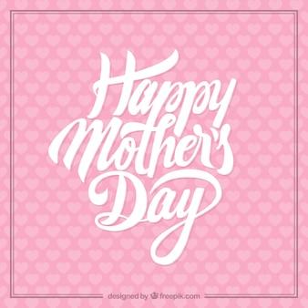 Tarjeta rosada del día de la madre
