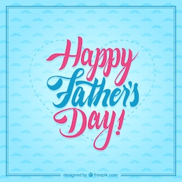 Tarjeta tipográfica de feliz día del padre