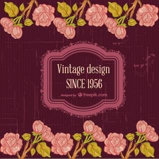 Tarjeta vintage floral