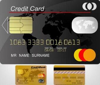 Tarjetas de crédito vectoriales