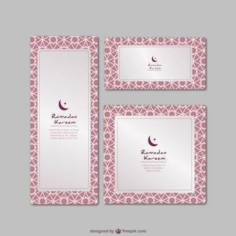 Tarjetas kareem del Ramadán