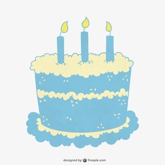 Tarta de cumpleaños turquesa