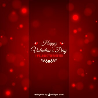 Te amaré por siempre la tarjeta de San Valentín