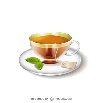 Ilustración de taza de té