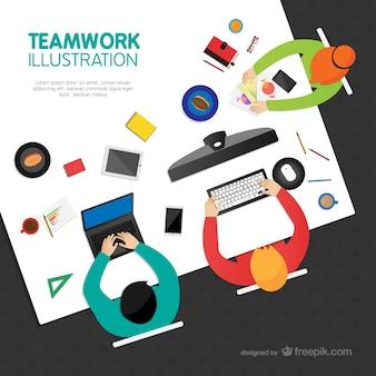 Plantilla de trabajo en equipo