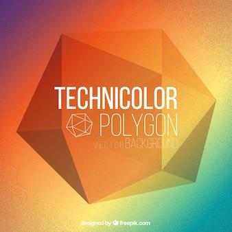 Technicolor fondo polígono