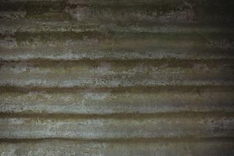 Techo de hierro galvanizado de edad