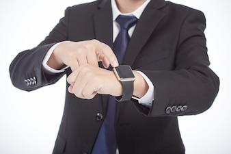 Tecnología de la mano del reloj que usa el trabajo