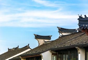Tejados de casas chinas