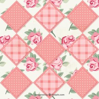 Tela floral patchwork
