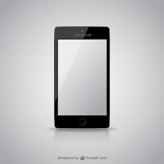 Teléfono móvil con la pantalla en blanco