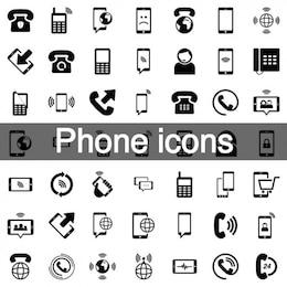 Teléfono móvil conjunto de iconos