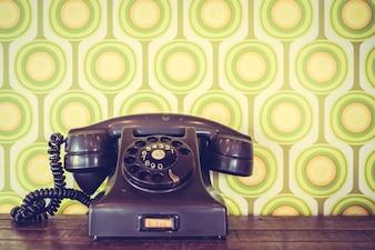 Teléfono pasado conectar rotatorio retro