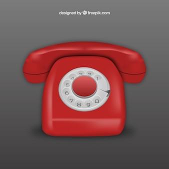 Teléfono retro realista