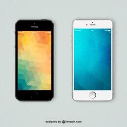 teléfonos móviles con fondos poligonales