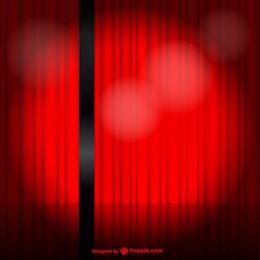 Telón rojo abriéndose