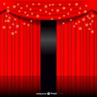 Telón rojo brillante