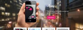 Tema appz psd: página de destino aplicación para el iPhone
