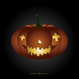 Temible calabaza de Halloween
