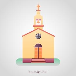 Templo cristiano a color