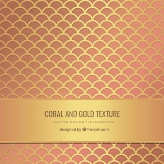 Textura coral y oro