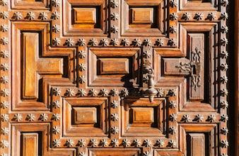 Textura de una puerta de madera