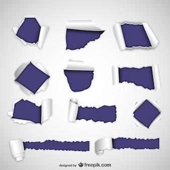 Texturas de papel rasgado