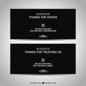 Plantillas de banners de agradecimiento para negocios