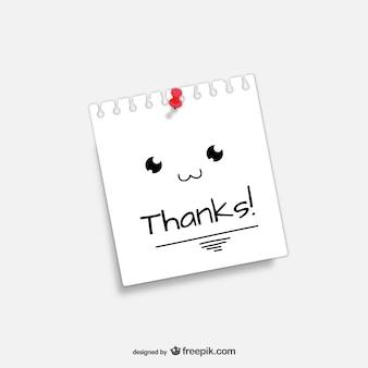 Nota de agradecimiento