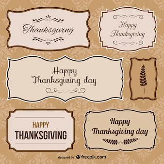 Conjunto de stickers de Acción de Gracias
