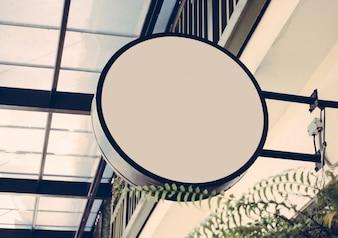 Tienda letrero con efecto de filtro retro