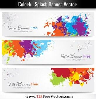 Tinta Splash Banner colorido