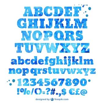 Tipografía de acuarela