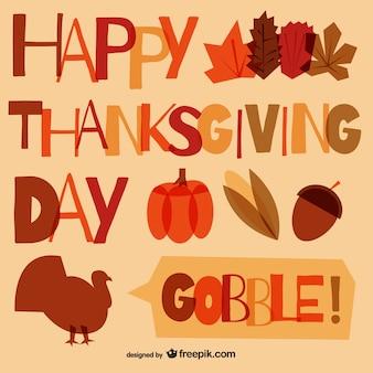 Tipografía de feliz Día de Acción de Gracias
