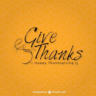 Tipografía minimalista de Acción de Gracias