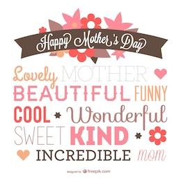 Tipografía para el día de la madre