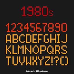 Tipografía Pixel