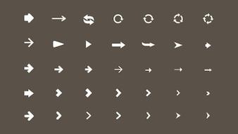 Tipos de iconos de flecha