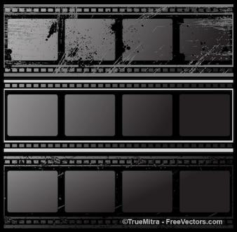Tiras negras del grunge de cine