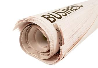 Titular de periódico de negocios