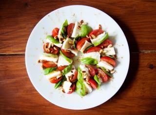 tomate, mozzarella ensalada